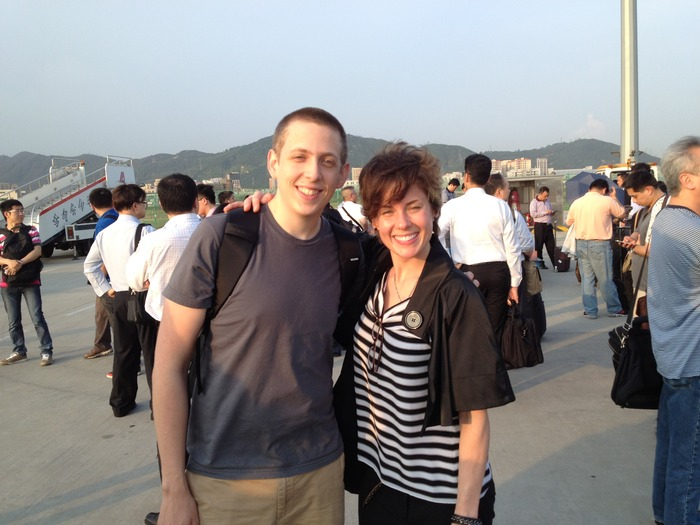 Peter and Jen arrive in Shenzhen after 34+ hours travel time. Thus began our tour of 14 factories before we picked our contract manufacturers. That was in May.