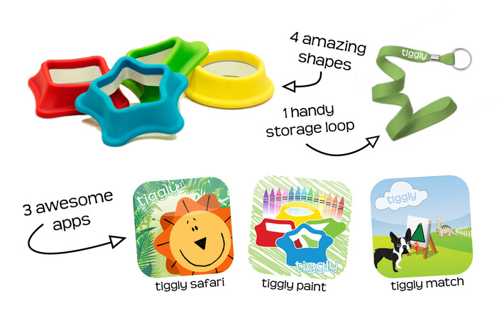 Tiggly Shapes package for our Kickstarter supporters