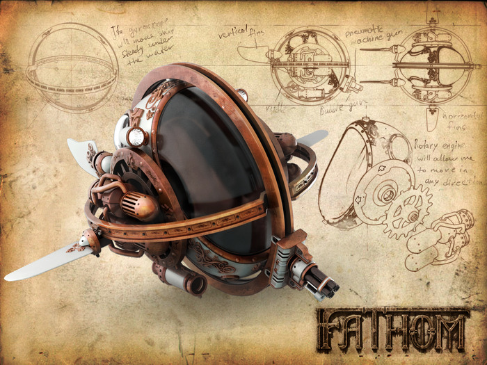 (The completed Bathysphere)