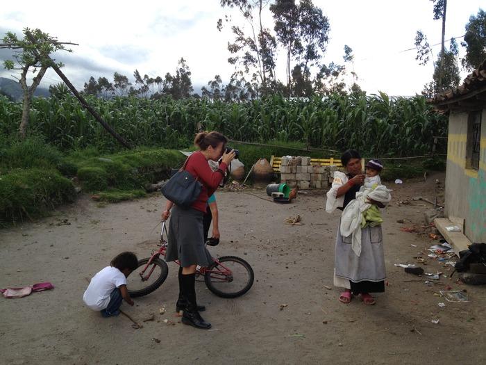 Photographing in Ecuador