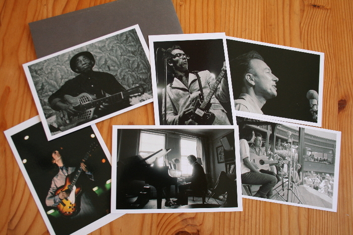 """Iconic Musicians Postcard Set, and DVD-- our way of saying """"thank you""""."""