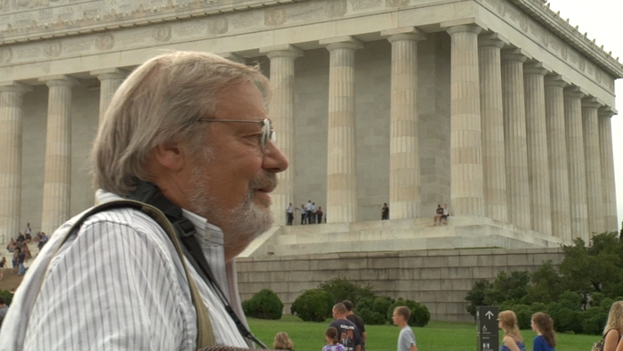 Scherman at the Lincoln Memorial.  Special Patron and Executive Producer status available!