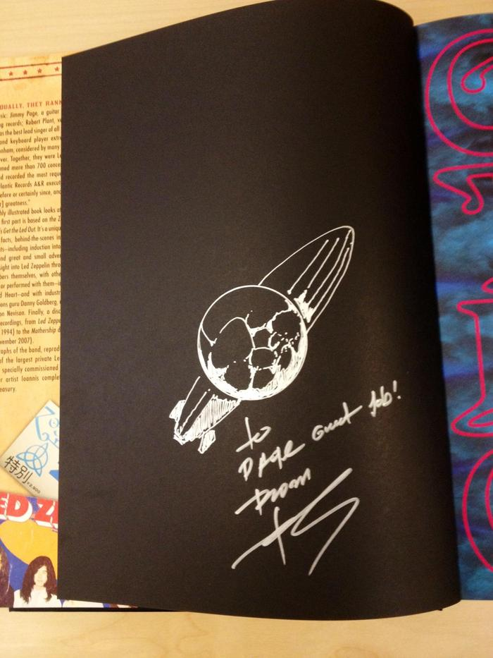 """Get your own copy of """"Get The Led Out"""" signed and with a hand drawn sketch by Ioannis as part of the """"Whole Lotta Love"""" reward level."""