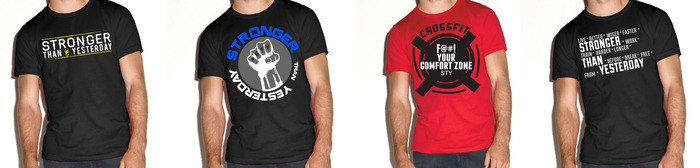 Logo Tee, Fight For STY, Comfort Zone & Live Better, Wiser Faster Tee