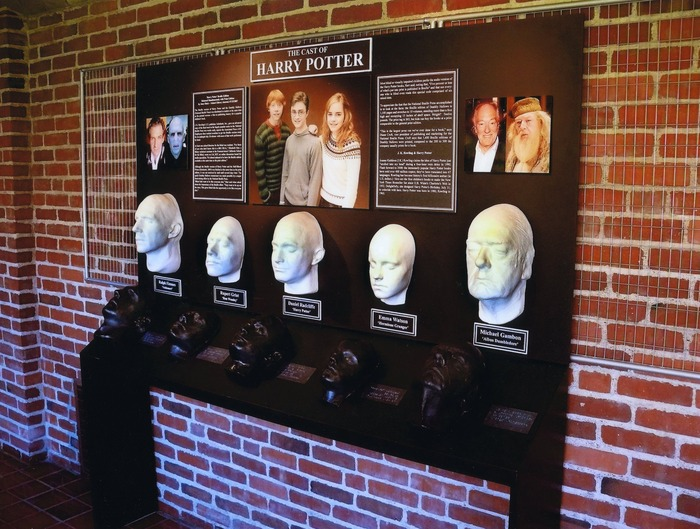 This is the cast from the Harry Potter Movies. This ICLM exhibit was installed at the Perkins School for the Blind (Watertown MA). Look closely at the black life casts and Braille labels; they are designed for touch, as would the Holocaust Survivor's.