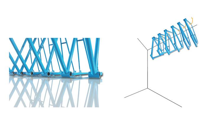 steel road bike frame (fork not pictured)