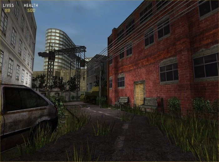 Exterior levels will be enhanced with terrain and vegitation