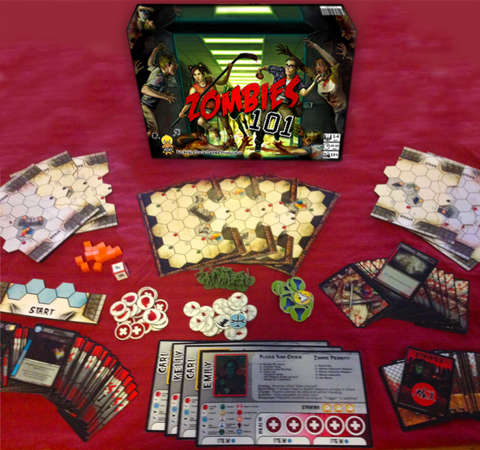 *Main playtest-phase game components shown.  Final production versions and artwork may differ.