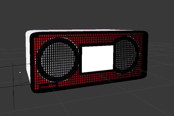 New Design - The LCD Display is integrated in the front grid. Front grid is not removable.