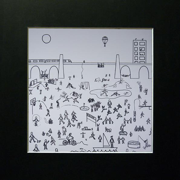 Limited Edition fine art print in bevelled card mount frame