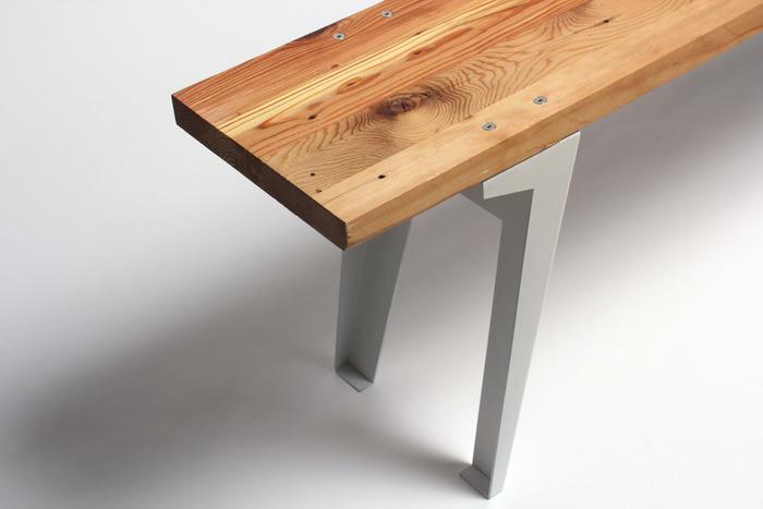 Detail of Reclaimed Lumber Shelves