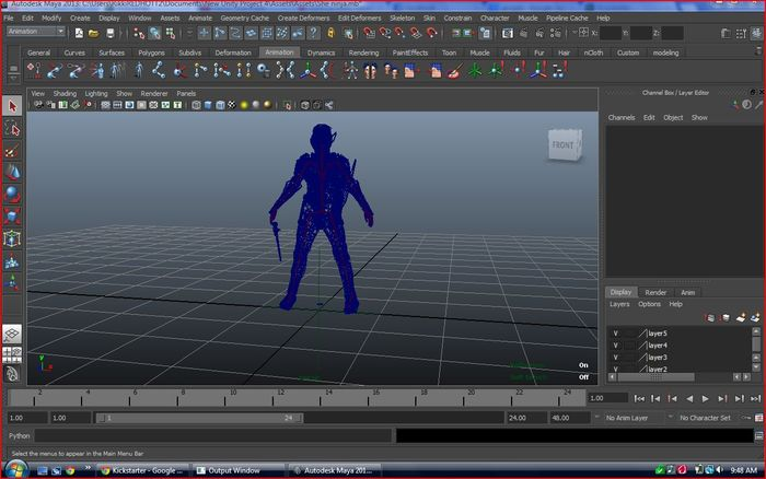 This is me meshing and adding animations its a little hard