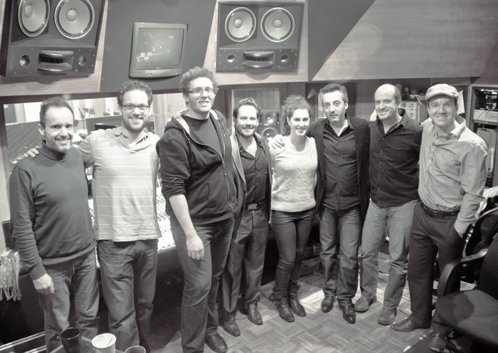 After the recording of the singing