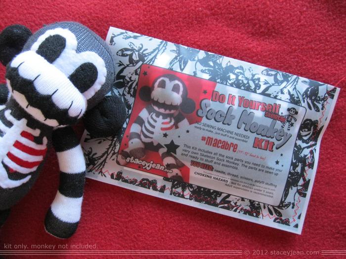 Standard Black and White Skeleton Monkey DIY Kit