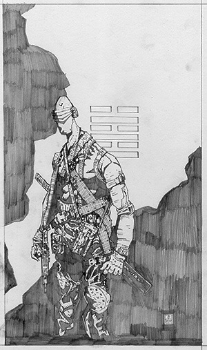 "Snake eyes is not in ICHIDO but this is an example of 11 X 17 drawing, will finish background in greater detail, ""Knowing is half the battle..."" by tomas overbai"