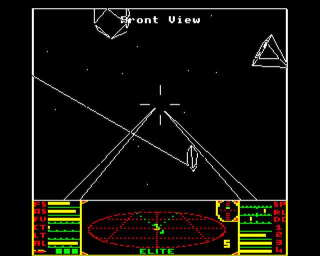 """Combat in the original """"Elite"""" on the BBC Micro"""