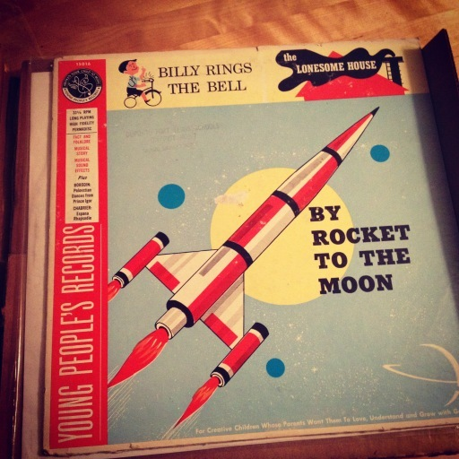 "Young People's Records anthology with A side ""By Rocket to the Moon"" by Raymond Scott and the Gene Lowell Singers"