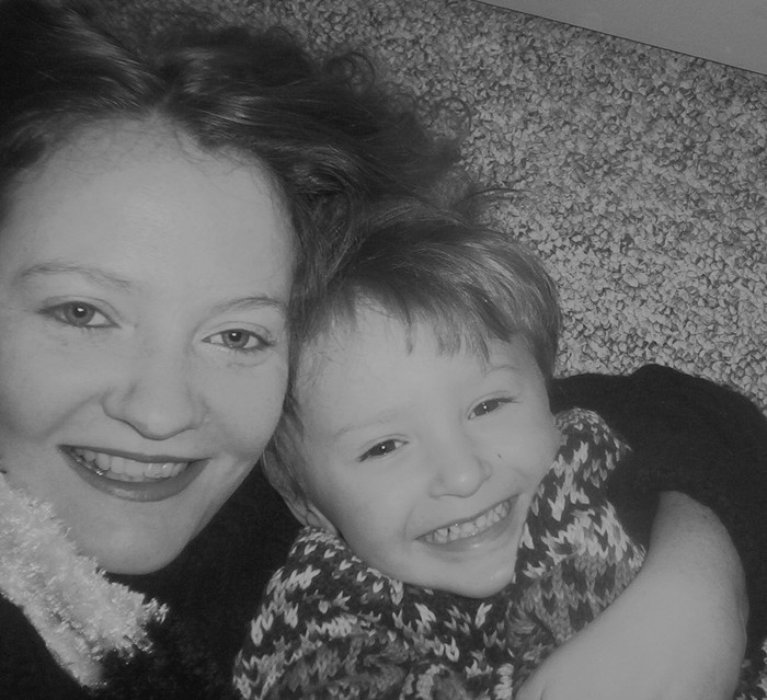 Me and my giggly son