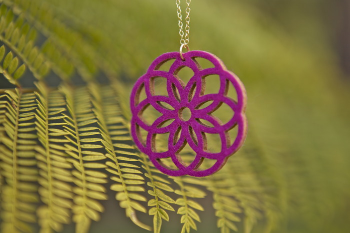 Magenta Revolve Necklace
