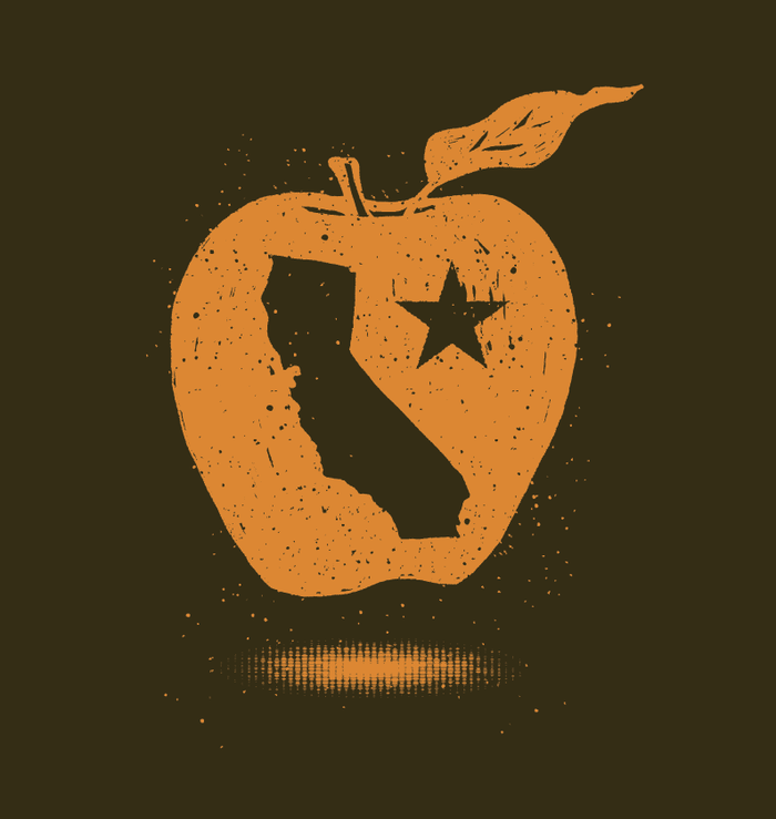 "The ecodads ""California Golden Apple"" Decal - Limited Edition"