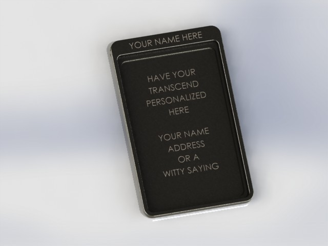 Custom engraving under front ID cover - see update #2 for more information