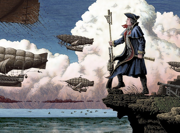 George Washington with Airships by Patrick Arrasmith