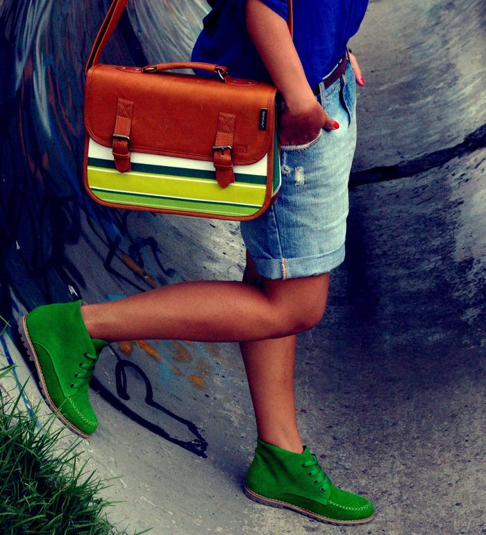 University Handbag (Lime & Lemon) and Colorines (Green) - a Kickstarter exclusive!