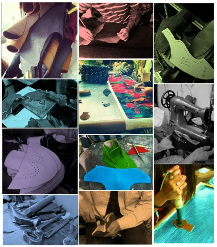 A collage of behind-the-scenes photos. Click here to see more about our workshop!