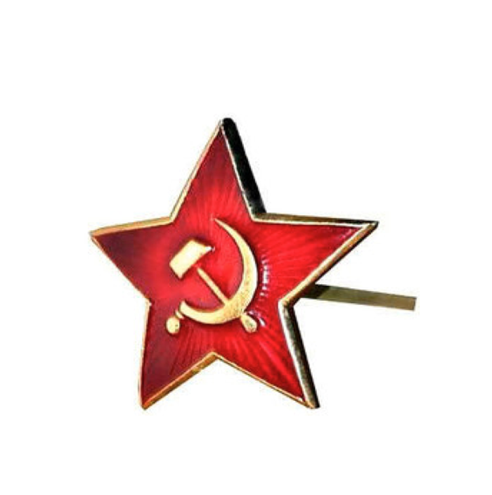 Authentic Soviet era Russian military pin you'll receive at the $75 reward level