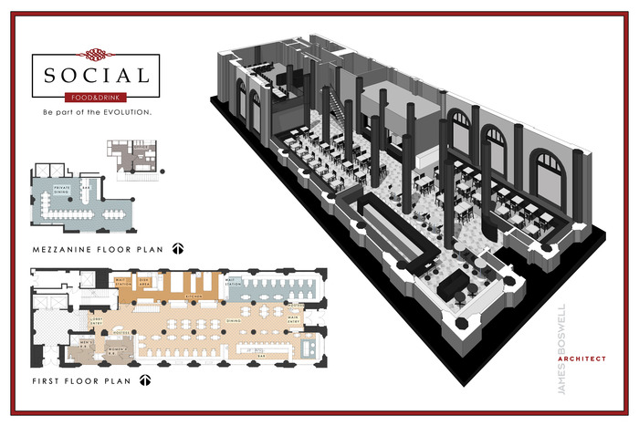 Architect plans for our main floor. James Boswell, we think you're great!