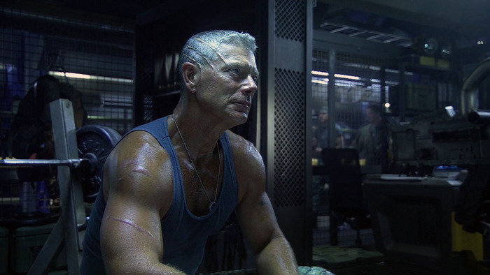 Stephen Lang as Colonel Quaritch in the movie Avatar