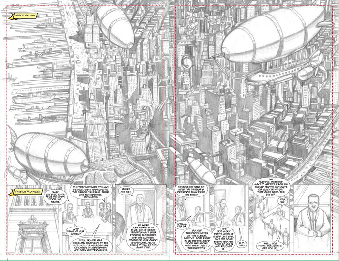 Pages 9-10 pencils / lettered