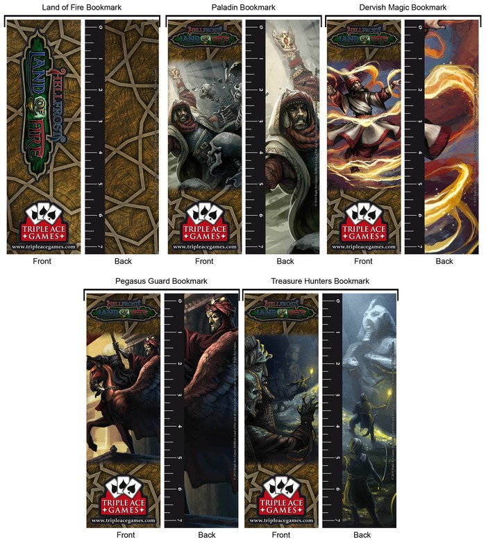 Land of Fire Bookmarks