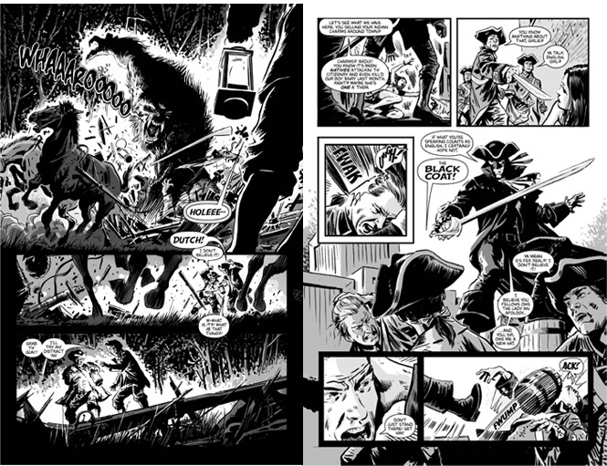 Pages from the 52-Page Special drawn by Gabriel Hardman.