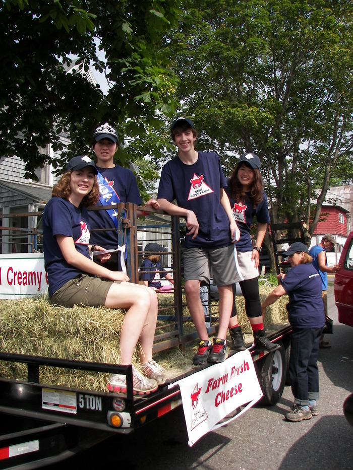 4th of July float in the Bar Harbor Parade