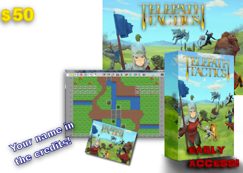 At $50, you'll get everything in the $40 tier, plus early access to the game's map editor so you can start making battles and campaigns right away!