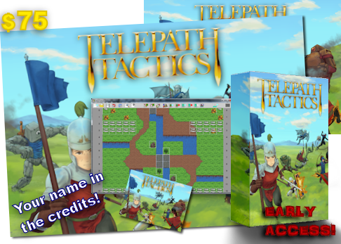 """At $75, get everything in the $50 tier plus an awesome, full-color 24"""" x 18"""" Telepath Tactics poster."""