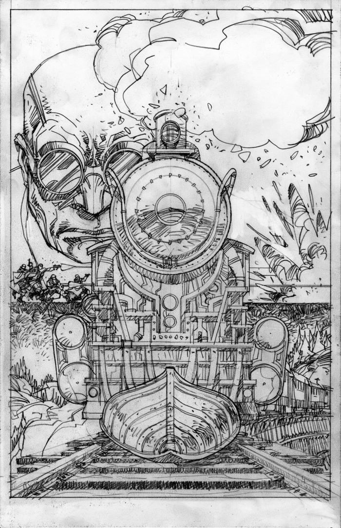 Steamworld Chronicles #1 - Final pencils