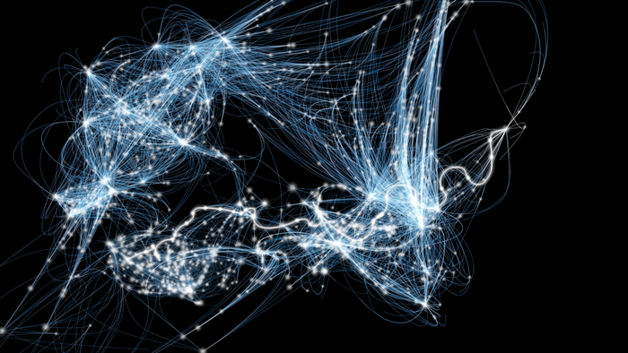 Visualization of the CLOUDS network