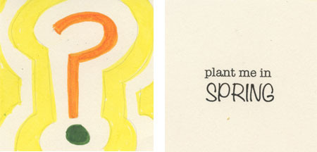 3 x 3 hand-drawn seed packet with heirloom seeds