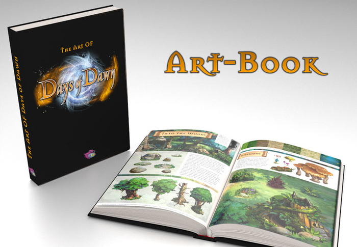 Explore the art and making-of of Days of Dawn in the 100 full-color pages of this beautiful hardcover art-book. Also contains detailed portraits of the team members including interviews and tutorials.