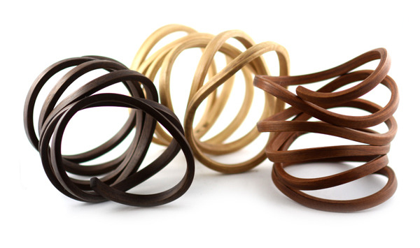 Organic Coil Bracelets - Walnut, Hickory, Cherry