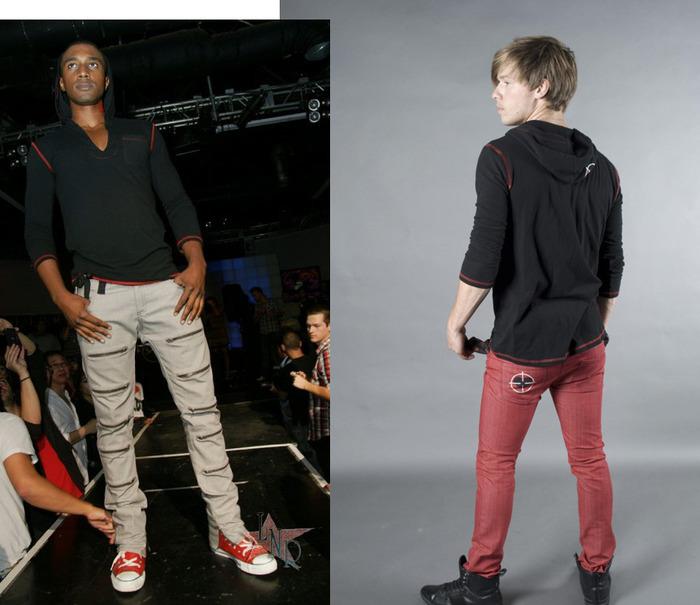 Hoodie, Men's/Women's (colors:gray/white striped,black,red,white,blue) sizes: XS-XL // Zipskinny Jeans, Men's/Women's (colors:red,gray,blue,white,black) sizes: 22-34