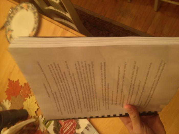The manuscript so far