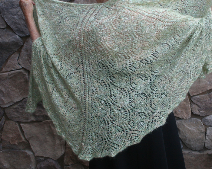 THE TRUE BELIEVER TIER: The big'un. 6K. Includes every reward that's not a one-shot and includes this intricately knitted, one-of-a-kind, angelically soft mohair shawl with 1250 crystal beads threaded in. Click to view more pics.