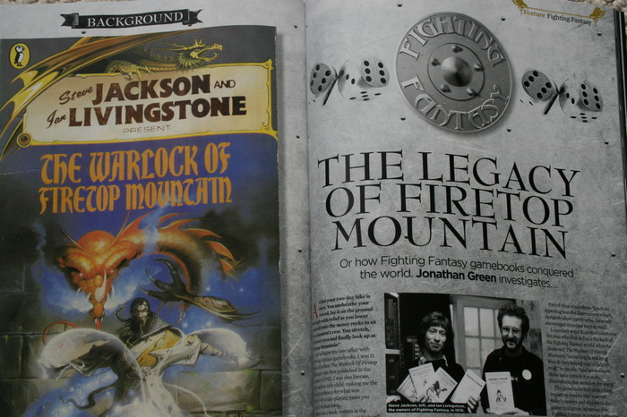 The Legacy of Firetop Mountain, in the SFX Fantasy Special