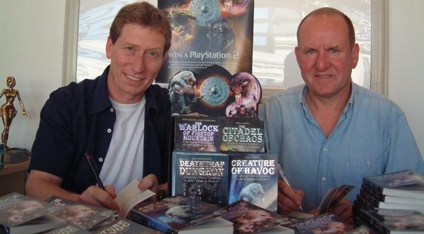 Steve Jackson and Ian Livingstone, creators of the Fighting Fantasy phenomenon