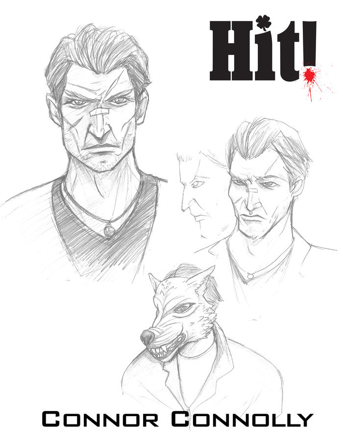 Character Concept Art - Drawn by our cover artist Dustin Infinger