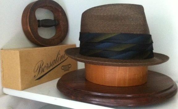 Vintage Borsalino straw hat