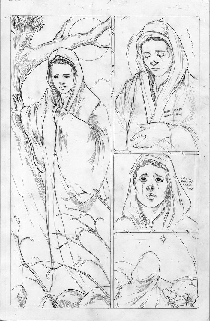 "Roughs from the new ""Mary Alone"" scene"